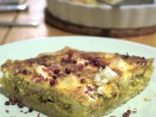 Spitzkohl-Ziegenkäse-Quiche - Rezept