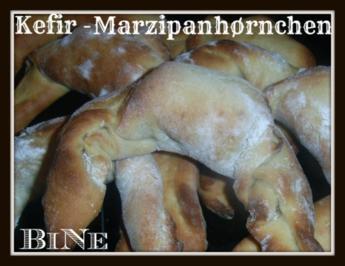 BiNe` S KEFIR - MARZIPANHØRNCHEN - Rezept