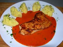 Putensteak in Paprika Chili Sauce - Rezept
