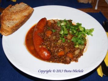 Linsensuppe auf italienische Art          (Zuppa di lenticchie) - Rezept