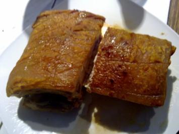 Aufschnitt vom Bauchfleisch - Rezept