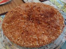 Vanille-Apfelkuchen mit gebrannter Mandelkruste - Rezept