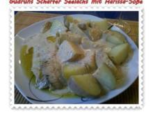 Fisch: Scharfer Seelachs mit Harissa-Soße - Rezept