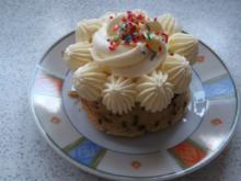 Bananen-Schoko-Cupcakes mit Vanillecreme - Rezept