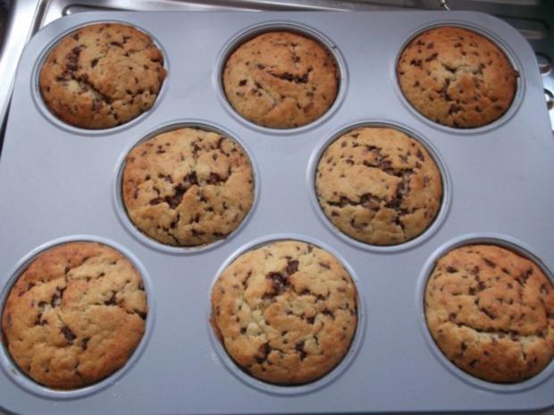 Bananen-Schoko-Cupcakes mit Vanillecreme - Rezept - Bild Nr. 8