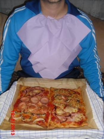 Pizza XXL, der Kühlschrank muß leer werden. - Rezept - Bild Nr. 6