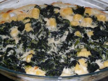 Rezept: Gnocchi - Spinat - Auflauf