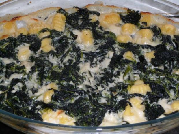 Gnocchi - Spinat - Auflauf - Rezept