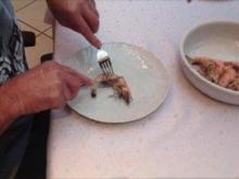 gegrillte Garnelen mit Weißwein- Bananensoße - Rezept