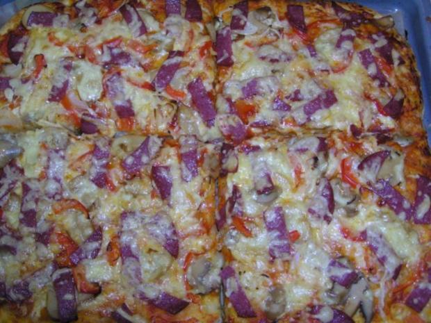 Quark öl Teig Für Schnelle Pizza Rezept Kochbarde