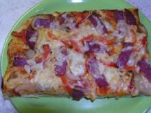Quark Öl Teig für schnelle Pizza - Rezept