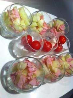Melonen-Schinken Tapas - Rezept