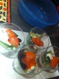 Frischkäse-Lachs-Tapas - Rezept