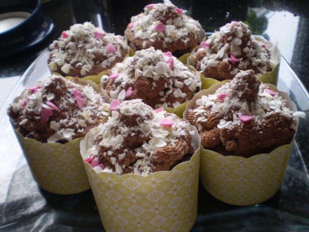 Schokoladige Schokomuffins mit Schoko-Topping! - Rezept - Bild Nr. 6