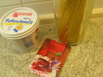 Nudelgerichte: Safran - Spaghetti - Nestchen - Rezept