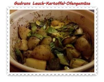Rezept: Vegetarisch: Kartoffel-Lauch-Ofengemüse