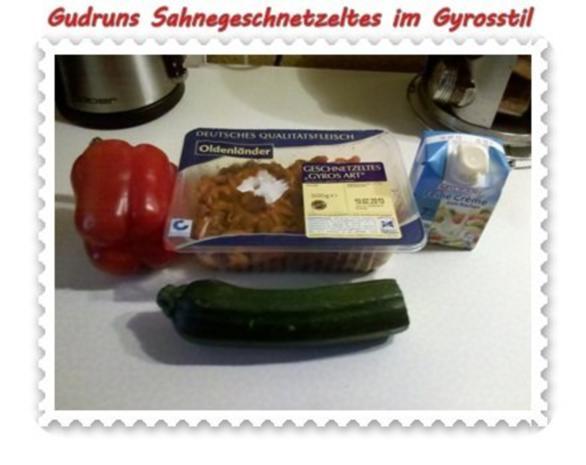 Fleisch: Sahnegeschnetzeltes im Gyrosstil - Rezept - Bild Nr. 2