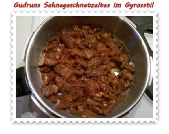 Fleisch: Sahnegeschnetzeltes im Gyrosstil - Rezept - Bild Nr. 5