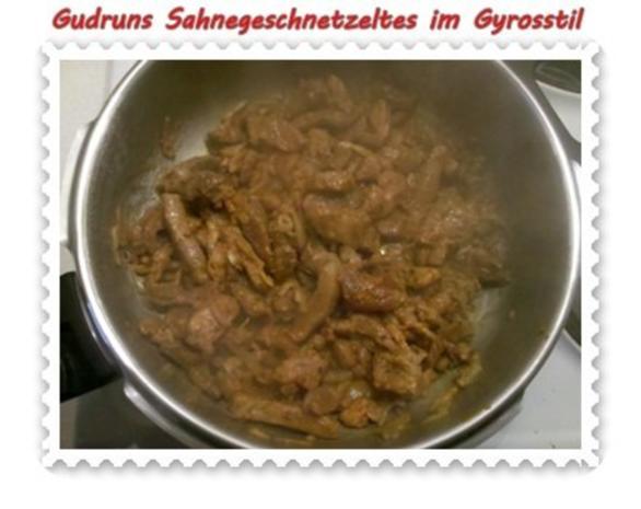 Fleisch: Sahnegeschnetzeltes im Gyrosstil - Rezept - Bild Nr. 6