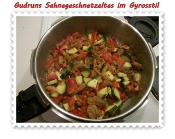 Fleisch: Sahnegeschnetzeltes im Gyrosstil - Rezept - Bild Nr. 8