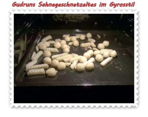 Fleisch: Sahnegeschnetzeltes im Gyrosstil - Rezept - Bild Nr. 9