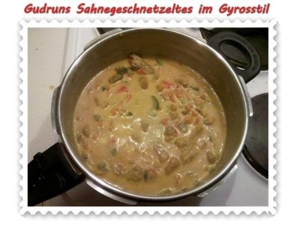 Fleisch: Sahnegeschnetzeltes im Gyrosstil - Rezept - Bild Nr. 11