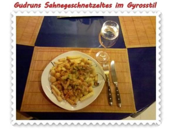 Fleisch: Sahnegeschnetzeltes im Gyrosstil - Rezept - Bild Nr. 14