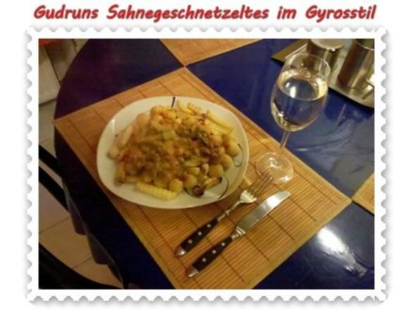Fleisch: Sahnegeschnetzeltes im Gyrosstil - Rezept - Bild Nr. 15