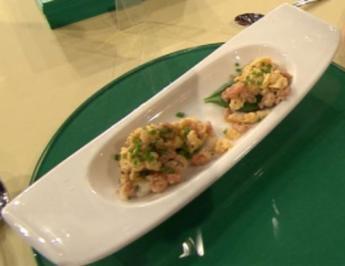Canapes mit Büsumer Krabben und Rührei (Promiteam) - Rezept