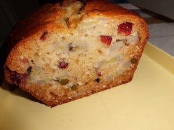 Kuchen: Exotische Bananen-Cranberrie-Kiste - Rezept
