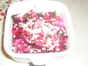 Matjessalat mit roten Rüben (rote Beete) - Rezept