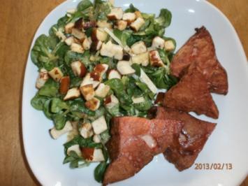 Bayuvarischer Feldsalat mit Edamer - Brez'n-Batzerl und reschem Leberkas! - Rezept