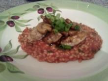 Hähnchenbrust mit Tomatenrisotto - Rezept