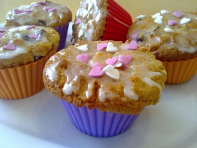 ♥Marzipan Muffins mit Kirschen♥ - Rezept