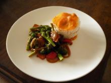 Asiatisch angehauchtes Gemüse mit Reis - Rezept