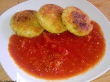 Kartoffel-Taler mit Tomatensauce - Rezept