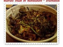 Fleisch: Steak im Gemüsebett - orientalisch - - Rezept