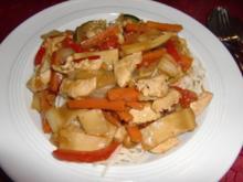 Wok-Gemüse mit Chinesische Mie Nudeln à la Heiko - Rezept