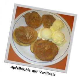 Apfelküchle mit Vanilleeis (Ohne Alkohol) - Rezept