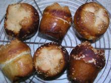 Laugenbrötchen aus der Muffinform 6 Stk - Rezept