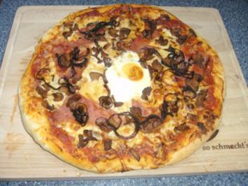 Rezept: Pizzateig wie vom Italiener...hier meine Variante mit Pfifferlingen