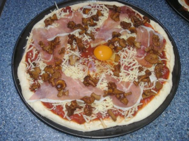 Pizzateig wie vom Italiener...hier meine Variante mit Pfifferlingen - Rezept - Bild Nr. 2