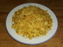 gebratene Nudeln mit Eier - Rezept