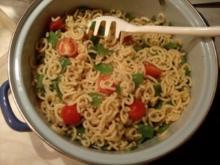 Spagettini mit Gemüse-Käse-Soße - Rezept - Bild Nr. 2