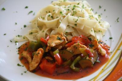 Hühnchen-Gemüse-Pfanne - Rezept