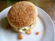 Basilikum-Burger mit Tomaten - Rezept