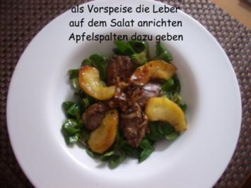 Rezept: Hähnchenleber auf Feldsalat