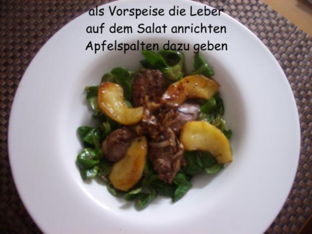 Hähnchenleber auf Feldsalat - Rezept