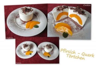 Pfirsich - Quark - Törtchen ... - Rezept