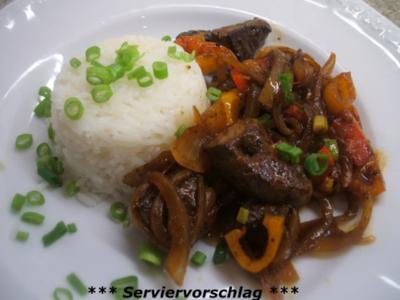 Innereien: Lebergeschnetzeltes mit Reis - Rezept